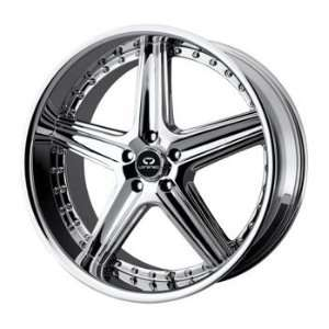 Lorenzo WL019 20x8.5 Chrome Wheel / Rim 5x4.5 with a 35mm Offset and a