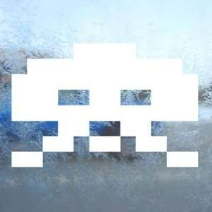 Space Invader White Decal Wii Car Window Laptop White