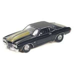 1970 Chevy Chevelle SS 454 Pro Street 1/24 Black Toys