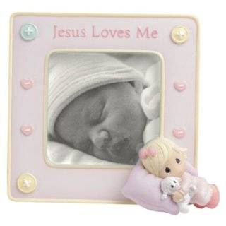 Precious Moments   Jesus Loves Me   Baby Girl Frame 5 x 5.25 by