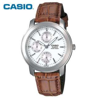 2011 Latest Casio Mens Analog Quartz Watch Leather Day Date MTP 1192E