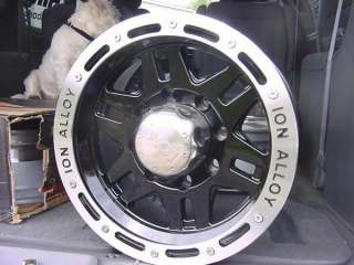 ION 133 15X8 BLACK JEEP WRANGLER RANGER CHEVY TRUCK, 6 LUG,,FORD wheel