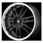 17 HELO 845 Wheel SET RIMS Black CHEVY DODGE NISSAN ME