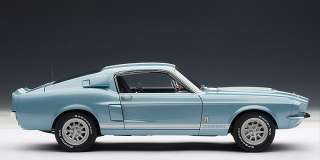 AUTOART 72907 118 SCALE 1967 FORD MUSTANG SHELBY GT500 BLUE DIECAST