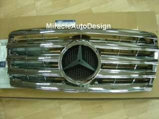 Chrome Front Grille For 1993 1995 Mercedes W124 E Class