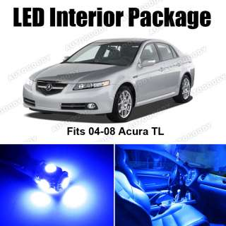 BLUE LED Lights Interior Package Deal for Acura TL