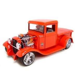 1934 FORD CUSTOM PICK UP RED 118 SCALE DIECAST MODEL
