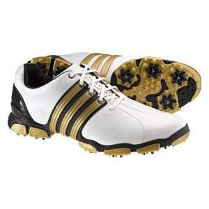 adidas Mens TOUR360 4.0   White/Black/Metallic Gold Golf