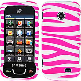 CRYSTAL FACEPLATE HARD CASE COVER SAMSUNG T528G TRACFONE PINK WHITE