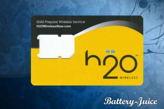 NEW H2O Wireless Micro Sim Card For iPhone 4 & 4S H20 4G 4GS   AT&T