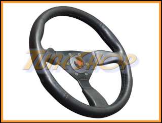 ITALY PERSONAL GRINTA 350 MM STEERING WHEEL BLACK POLYURETHANE RED
