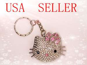 8GB Jewel Hello Kitty Crystal Flash Drive USB Keychain