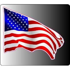 USA waving flag sticker vinyl decal 4 x 3.5 Everything