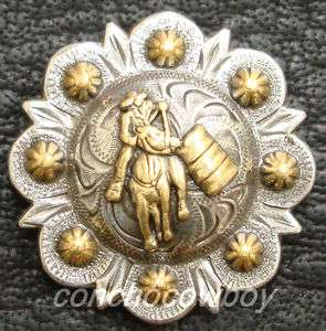 WESTERN HEADSTALL SADDLE GOLD BARREL RACER BERRY CONCHO 1 inch