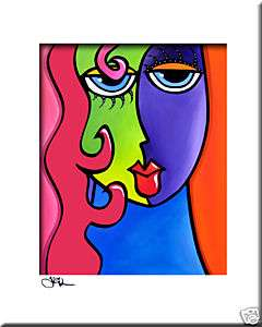 FIDOSTUDIO Original ART Abstract MODERN portrait print