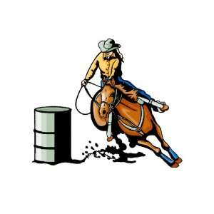 vinyl wall art repositional decal  barrel Racer Girl