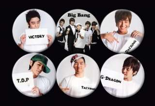 Big Bang Bigbang Korean Boy Band Music #1 Collection Buttons Pins