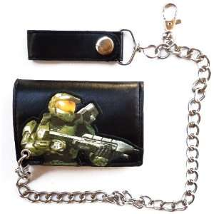 Halo Master Chief Black UNSC Wallet with Chain Sports