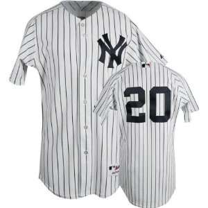 Jorge Posada Majestic MLB Home Pinstripe Authentic New York Yankees