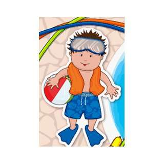 Childrens Birthday Party Invitations   Pool Boy
