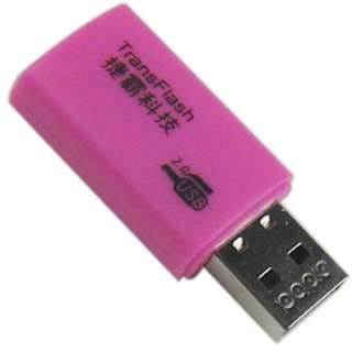 USB 2.0 External Memory Card Reader Writer T Flash TF microSD 8924