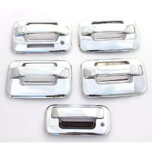 ) Chrome Door Handle & Tailgate Covers with keypad & w/o psg keyhole