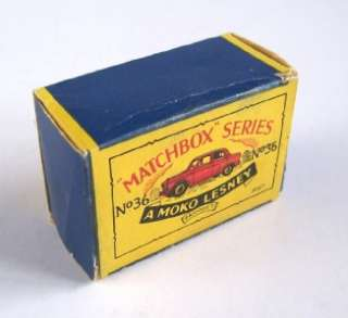 MATCHBOX MOKO LESNEY 36 AUSTIN A50 CAMBRIDGE ORIG BOX