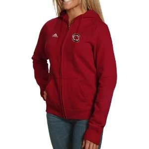adidas South Carolina Gamecocks Ladies Garnet Primary Logo Full Zip