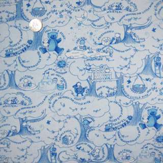 Free Spirit Baby Boy Toiles Main Print Blue Fat Quarter Jone Hallmark
