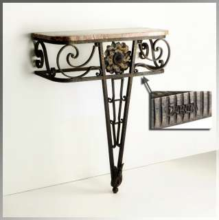 Rare 1920s French ART DECO Wrought Iron CONSOLE TABLE by GARO, Edgar
