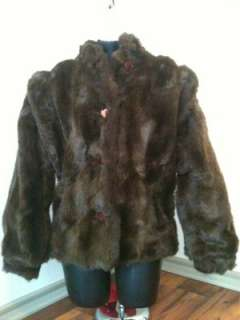 Designer Bebe for Furrina Faux Fur Brown Coat Jacket Clothing Vintage