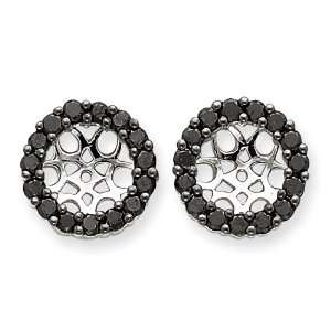 White Gold Black Diamond Earrings Jackets West Coast Jewelry Jewelry