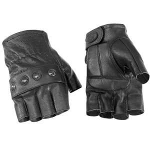 RIVER ROAD CARLSBAD SHORTY LEATHER GLOVES (SMALL) (BLACK