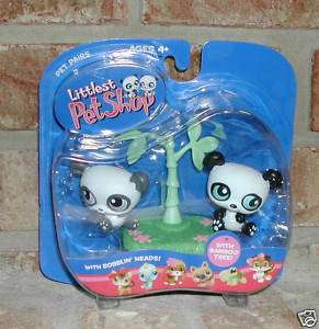 Littlest Pet Shop TWIN PANDA BEARS w/Bamboo #89 & #90