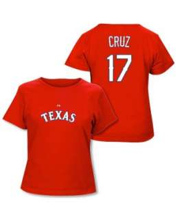 Nelson Cruz Texas Rangers Womens Authentic Font T Shirt by Majestic