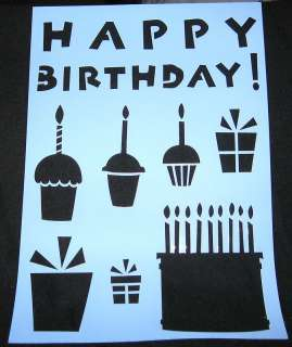 CUPCAKE STENCIL CUPCAKES HAPPY BIRTHDAY CAKE GIFTS NEW