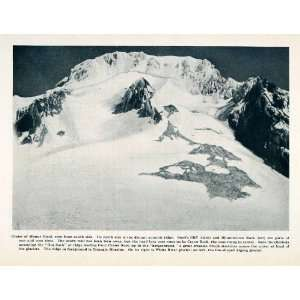 1912 Print Mount Hood Crater Summit Steel Cliff