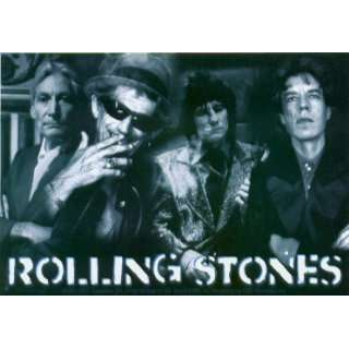 Rolling Stones   Black & White Group Shot with Logo   Sticker / Decal