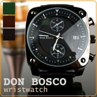 DON BOSCO]Men&Women 3 dials Casual+Dress wristwatch excellent gift