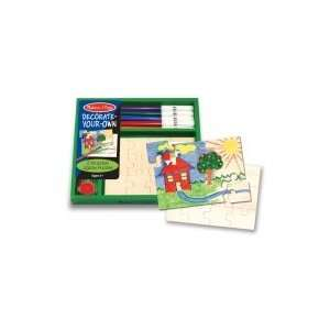 Decorate Your Own Wooden Jigsaw Puzzles Toys & Games