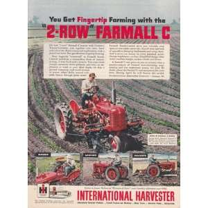 International Harvester 2 Row Farmall C International Harvester