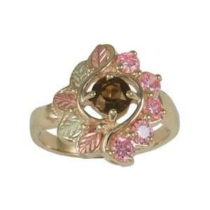 and Pink Cubic Zirconia Black Hills Gold Ring   Ring Size 6 Jewelry