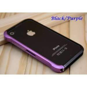 Case For Iphone 4 & 4s Black & Purple Cell Phones & Accessories