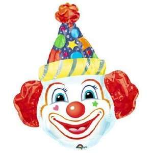Crazy Clown Head Super Shape Balloon Toys & Games