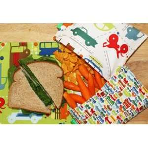 GREEN Reusable Sandwich and Snack Bags Highway One