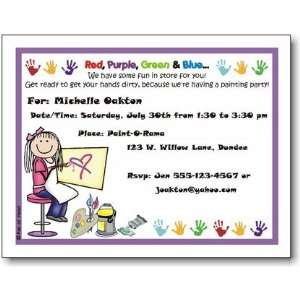Pen At Hand Stick Figures   Invitations   Painting   Girl
