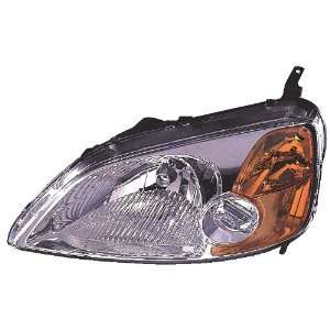 01 03 Honda Civic Cpe Headlight Assembly ~ Left (Drivers