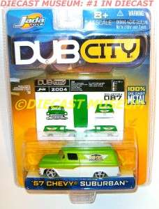 1957 57 CHEVY CHEVROLET SUBURBAN KUSTOMS DUB CITY DIECAST JADA VERY