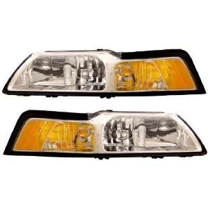 FORD MUSTANG 99 04 CRYSTAL HEADLIGHT CLEAR AMBER NEW Automotive