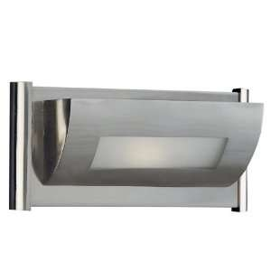 Kenroy Home 66120BS Trough Sconce, Brushed Steel